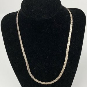 Sterling Silver Flat Chain Necklace